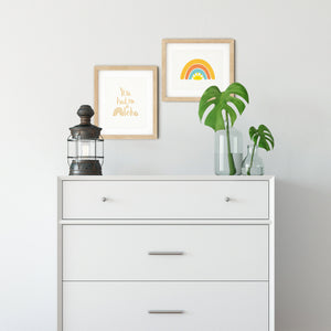 Sunshine & Rainbow Art Print