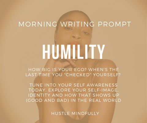 Humility Writing Prompt