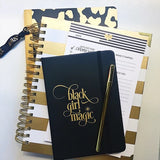 Luxe Black Girl Magic Notebook w/ Pen