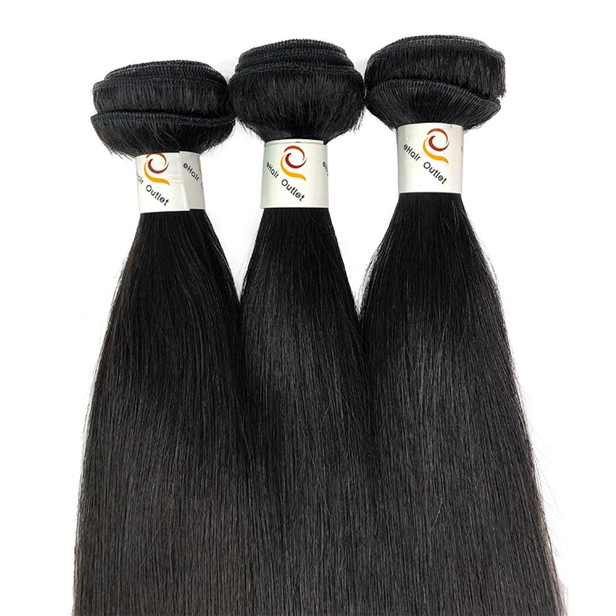 10A 3 Bundle Set Straight Raw Virgin Human Hair Extension 300g - eHair Outlet