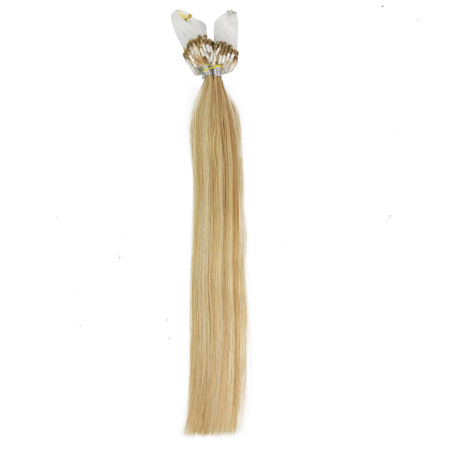 8A Micro Link Straight Human Hair Extension Color 27/613