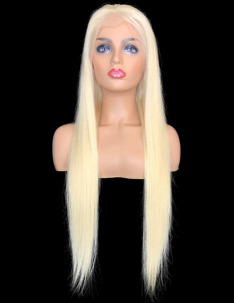 #613 Remy Straight Lace Frontal Human Hair Wig