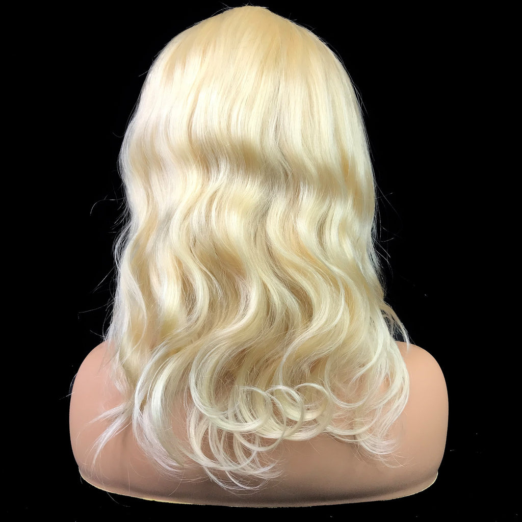 "Remy Body Wave  13""X 6""Lace Frontal Bob Wig  Blonde #613"
