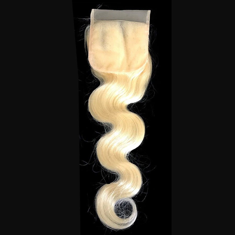 "Body Wave Color 613 Lace Closure 4""x4"""
