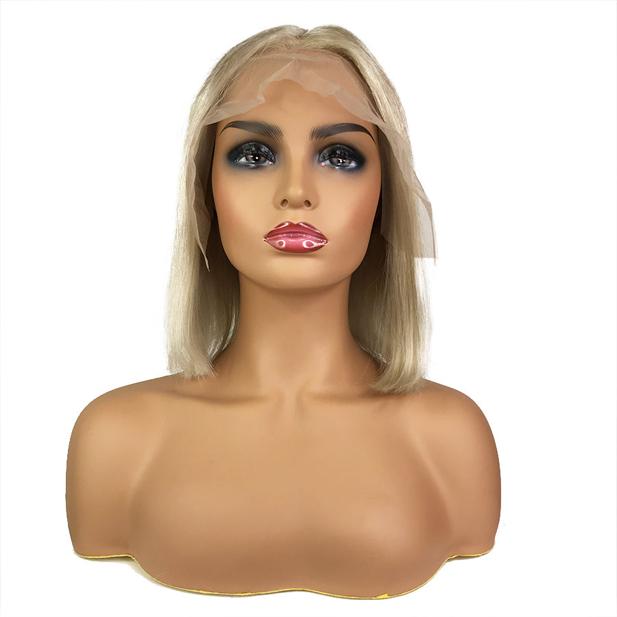"Remy Straight 13""X 6""Lace Frontal Bob Wig  Ash Blonde"