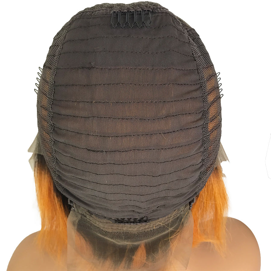 "Remy Straight 13""X 6""Lace Frontal Bob Wig 1B/27"