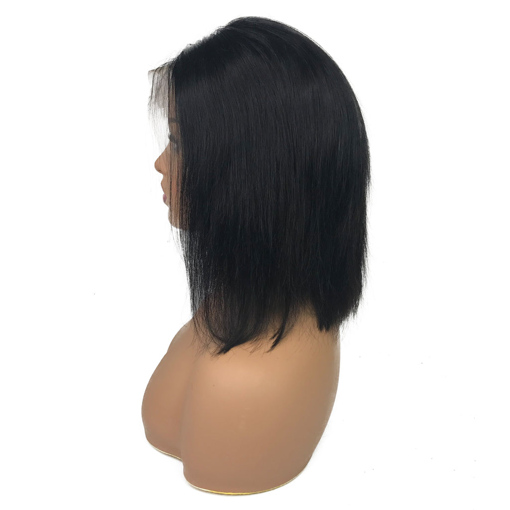 "Remy Straight 13""X 4""Lace Frontal Bob Wig  Natural"
