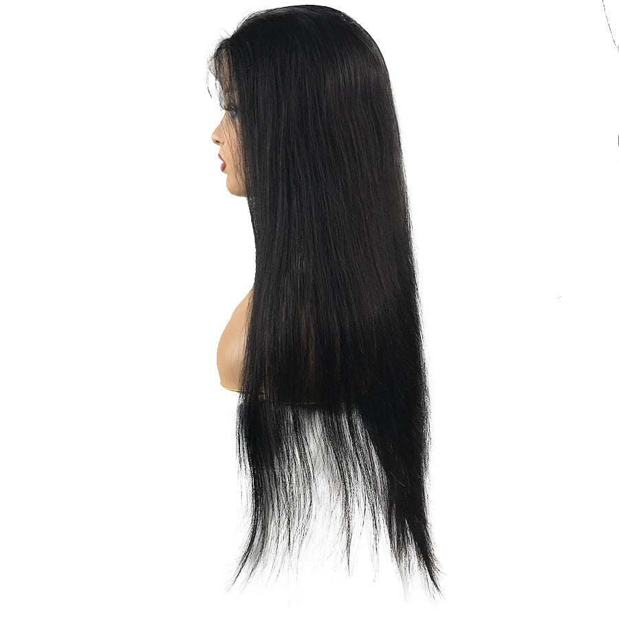 Swiss 8A Malaysian Straight Lace Closure Human Hair Wig