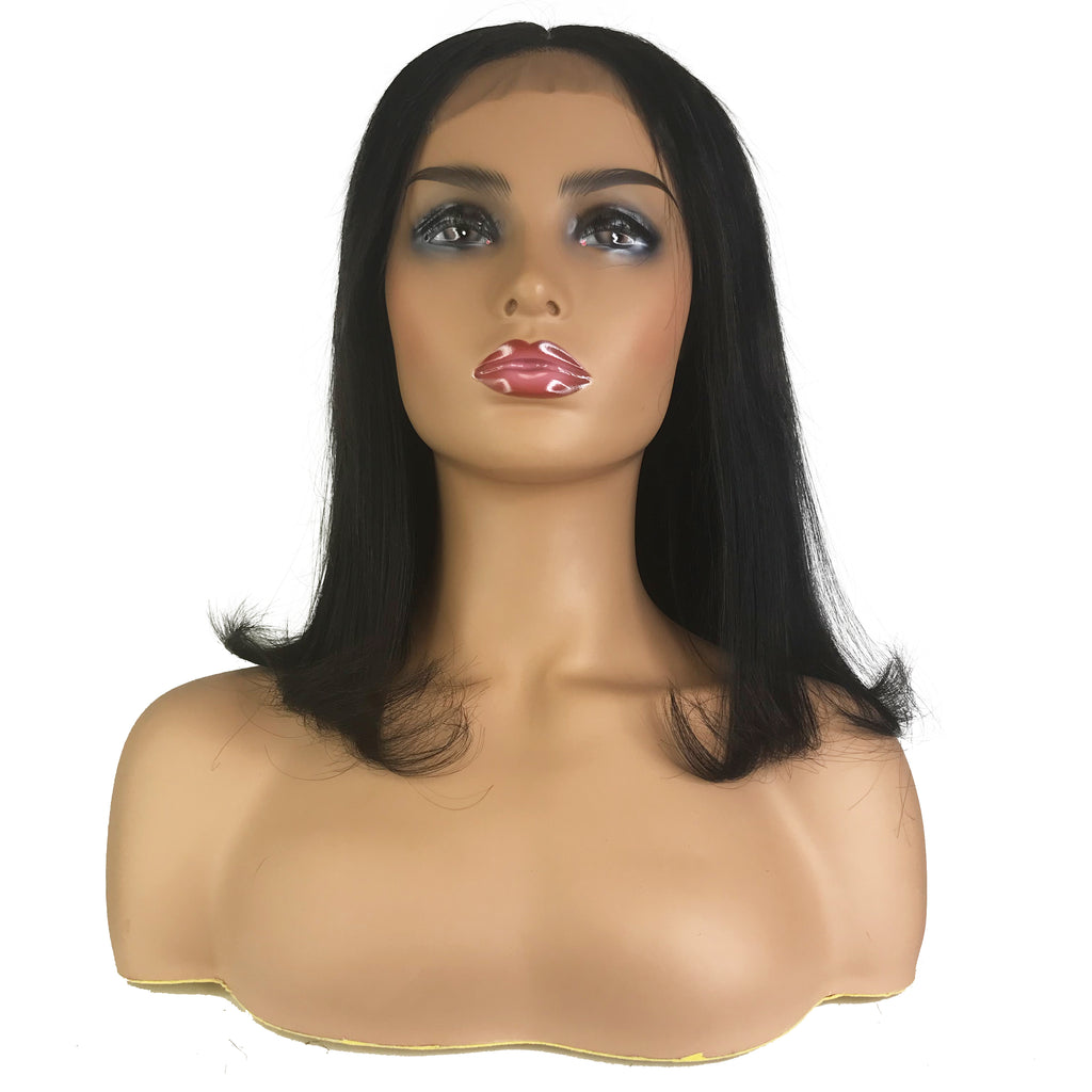 "Remy Straight 4""X 4""Lace Closure Bob Wig  Natural"