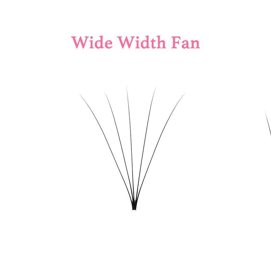 Mix Pre-made Volume 5D Fans Invisible Base Eyelash Extensions 0.07/C & D Curl (15 Lines)