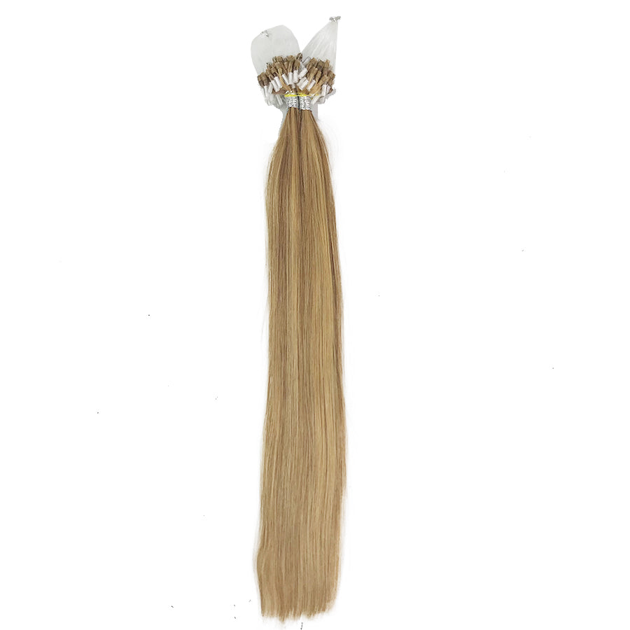 8A Micro Link Straight Human Hair Extension Color 24/27/17