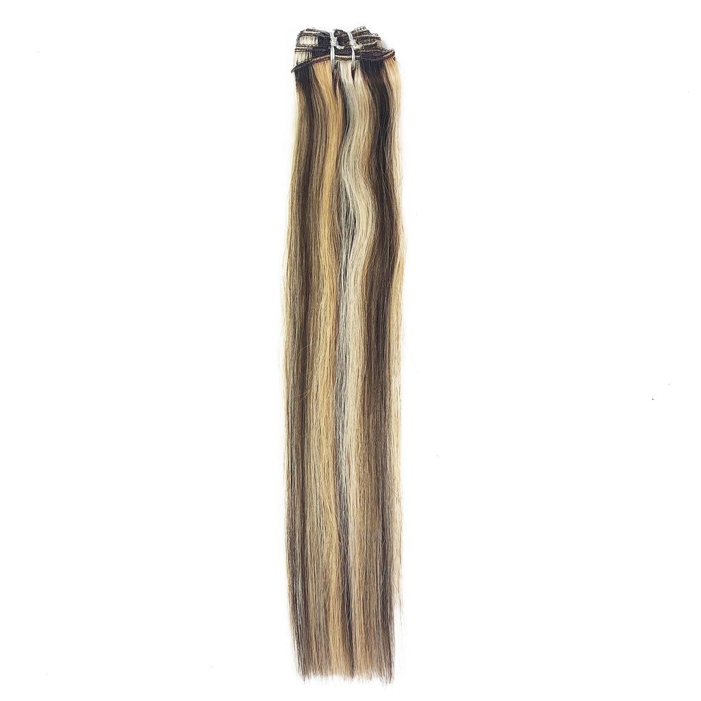8A Straight Clip-In Human Hair Extension Color F4/27/613