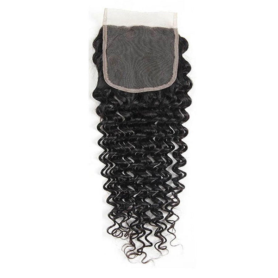 "Swiss Lace Remy Deep Wave Lace Closure 5""x5"""