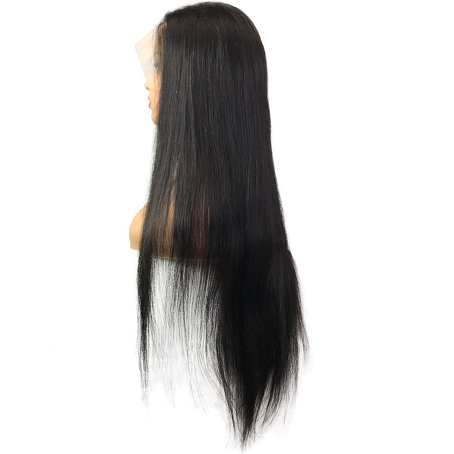 HD 8A Malaysian Straight Lace Frontal Human Hair Wig