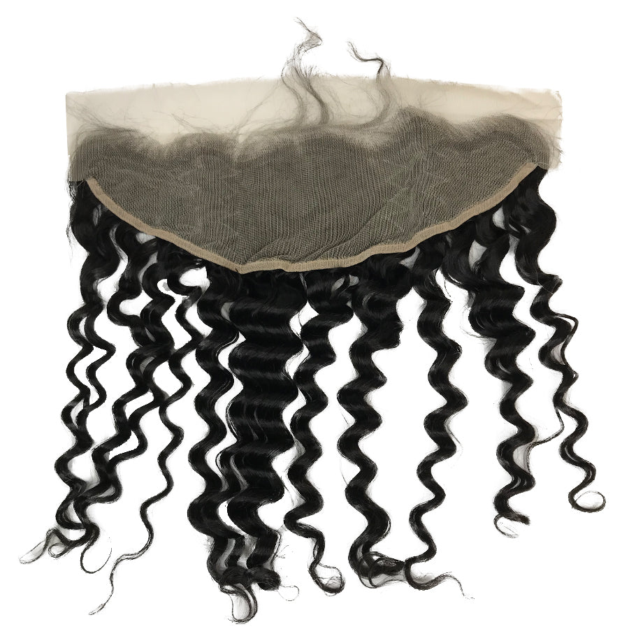 "HD Transparent Virgin 13""x4"" Deep Wave  Lace Frontal"