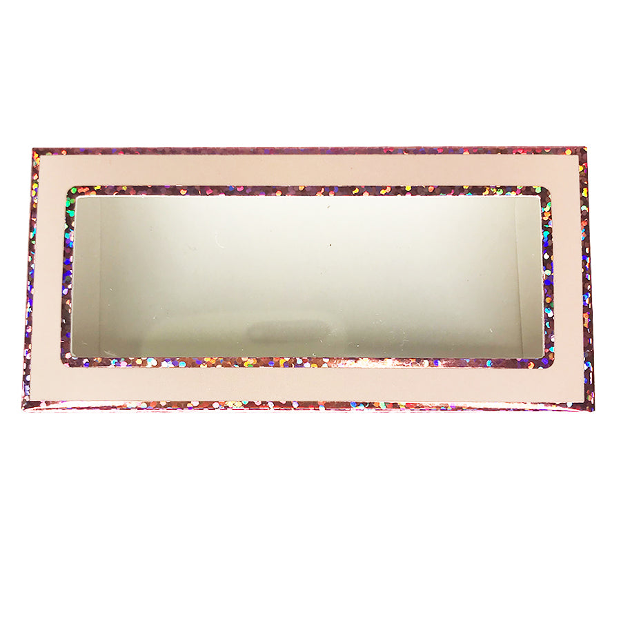 Light Pink Paper Empty Eyelash Box Gift Box Full Window