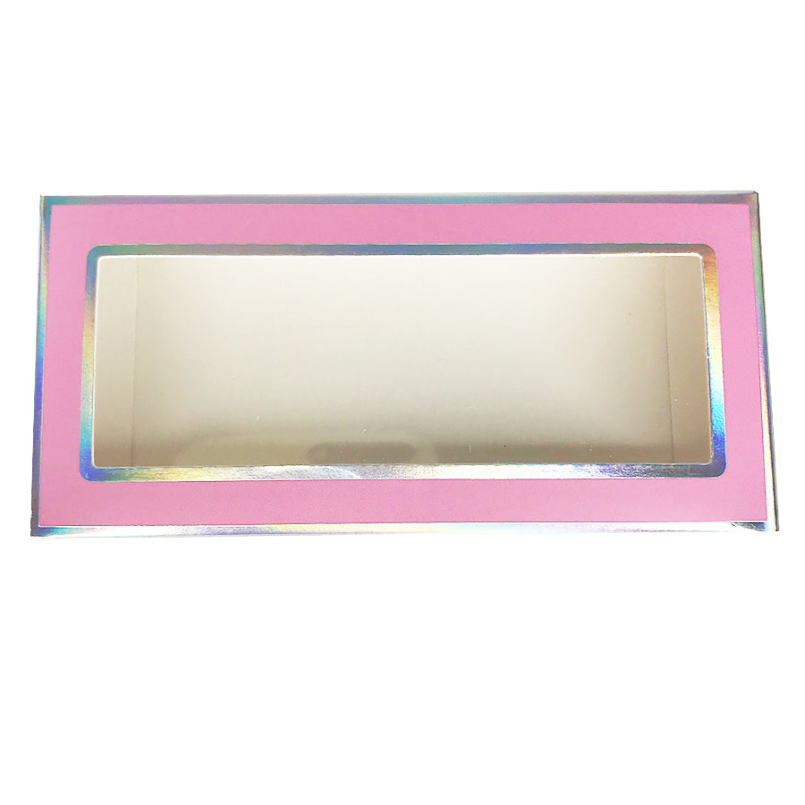 Pink Paper Empty Eyelash Box Gift Box Full Window