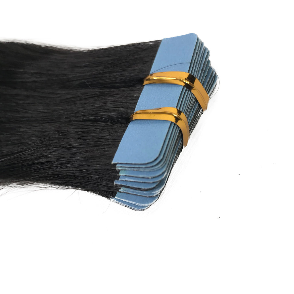 9A Straight Tape-In Human Hair Extension Natural