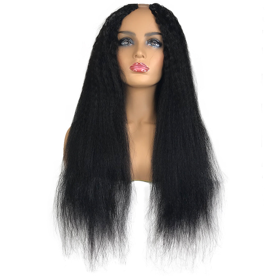 8A Malaysian Kinky Straight U Part Human Hair Wig