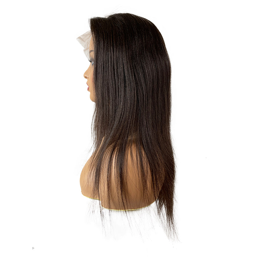 Virgin Swiss Yaki Straight Full Lace Wig Natural