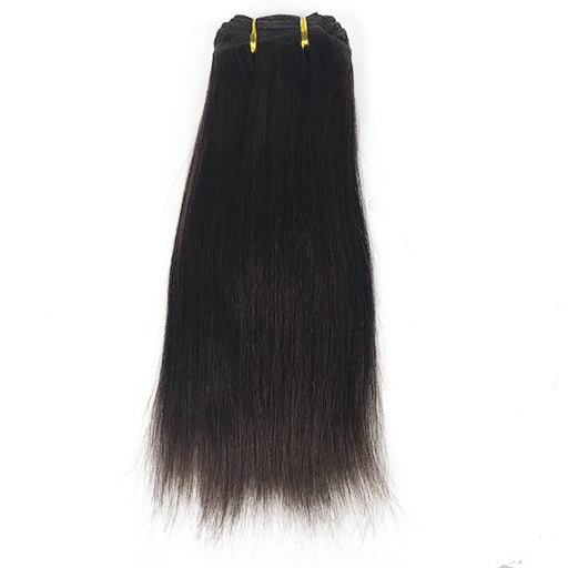 "10"" Yaki Straight Human Hair Extension Color #1B"