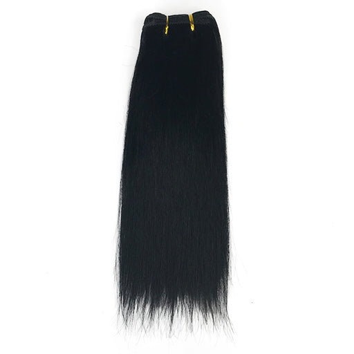 "10"" Yaki Straight Human Hair Extension Color #1"
