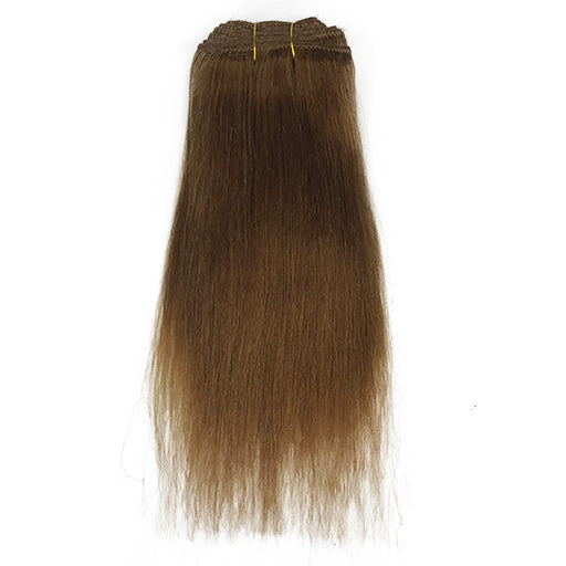 "10"" Yaki Straight Human Hair Extension Color #27"