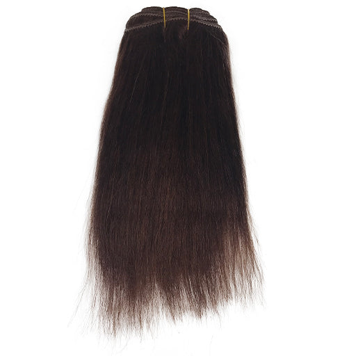"10"" Yaki Straight Human Hair Extension Color #33"