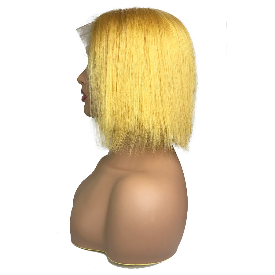 "Remy Straight 13""X 6""Lace Frontal Bob Wig Yellow"