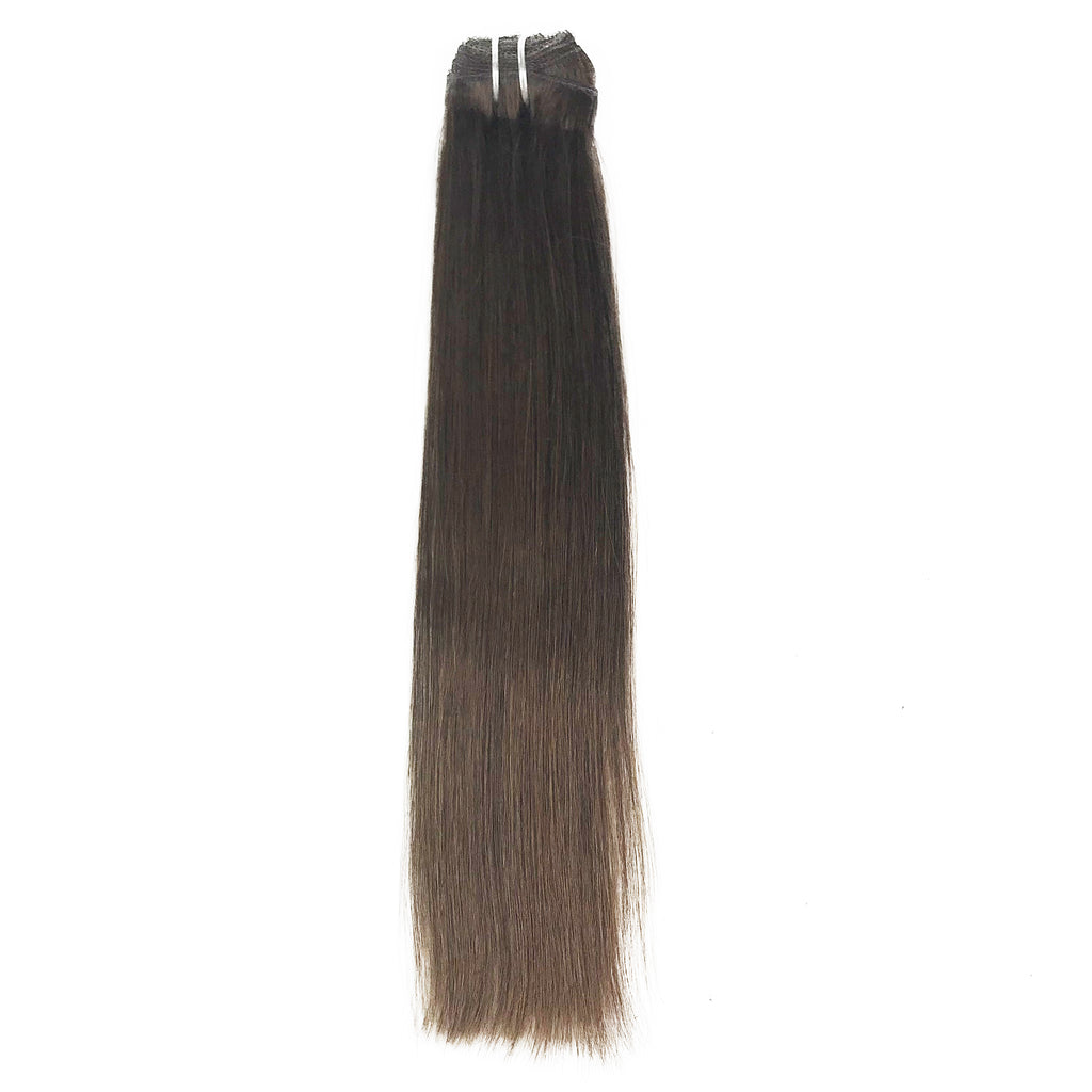 8A Straight Clip-In Human Hair Extension Color 4