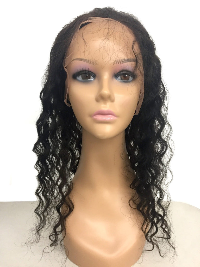 Remy Lace Frontal w/ Cap Deep Wave Human Hair - eHair Outlet