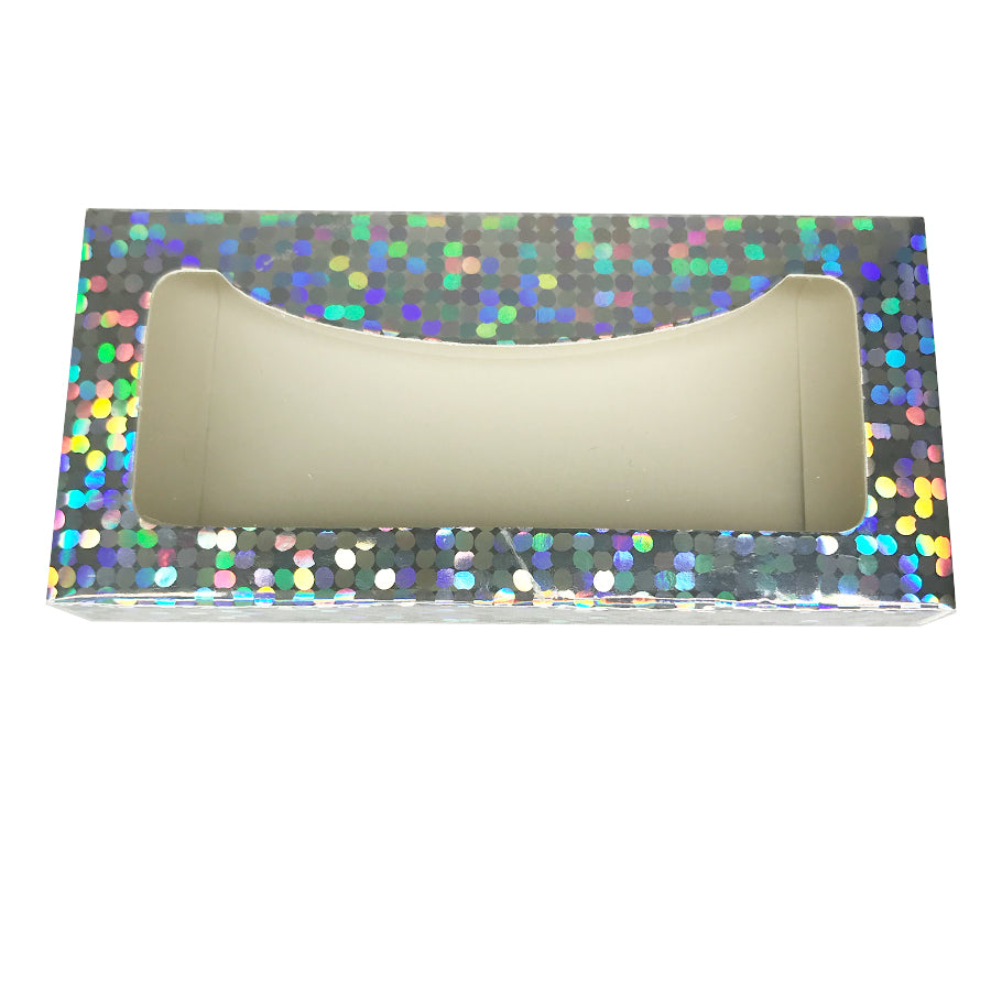 Shiny Paper Empty Eyelash Box Gift Box Full Window/5 Colors Available