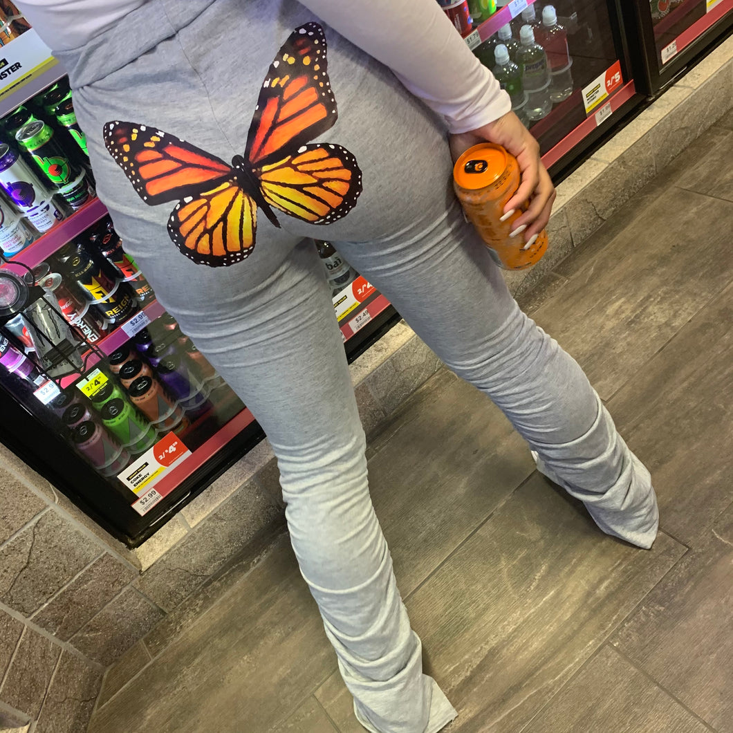"""Pimpin"" Butterfly Booty Stacked Sweats"