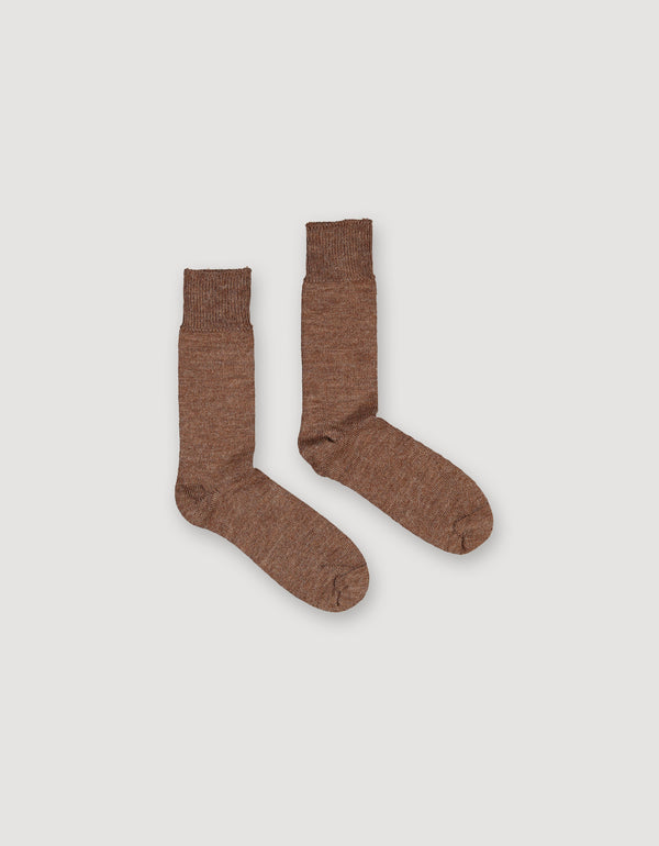 Brown Alpaca Boot Socks