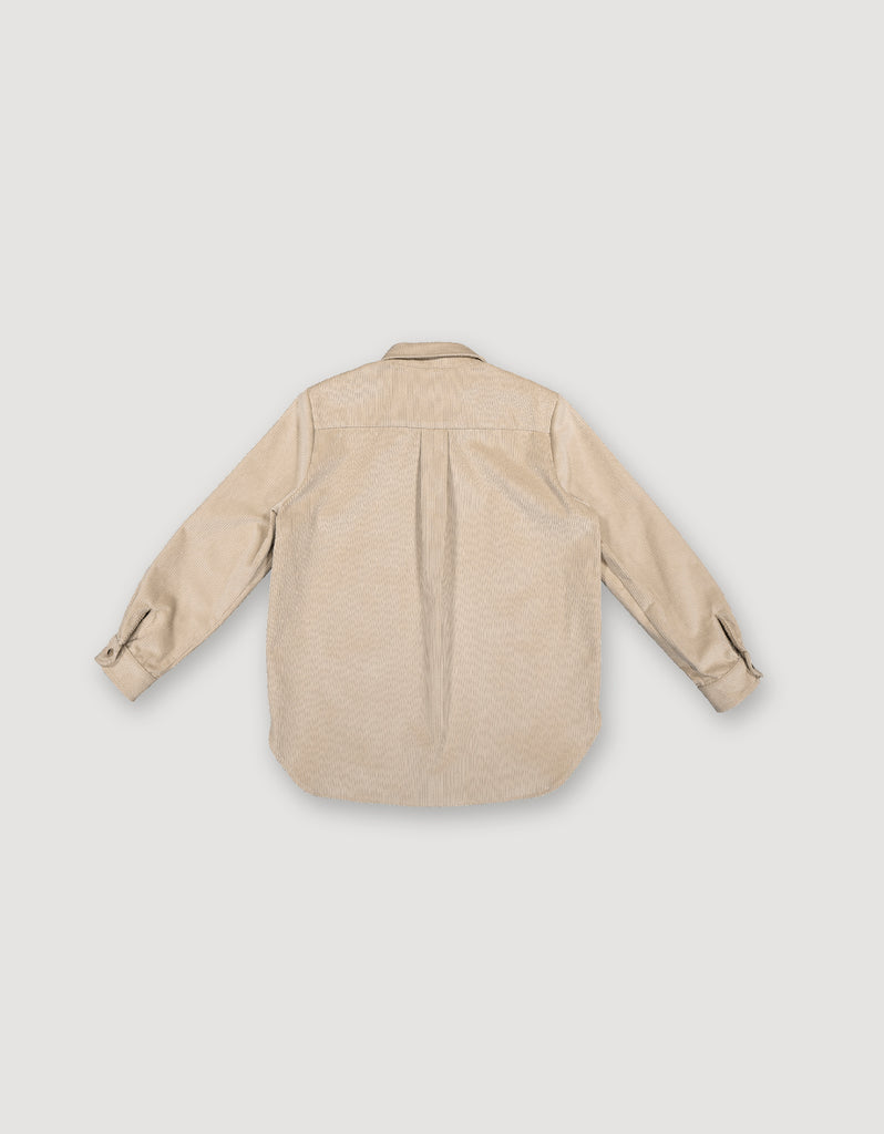 Beige shirt made from heavy cotton corduroy