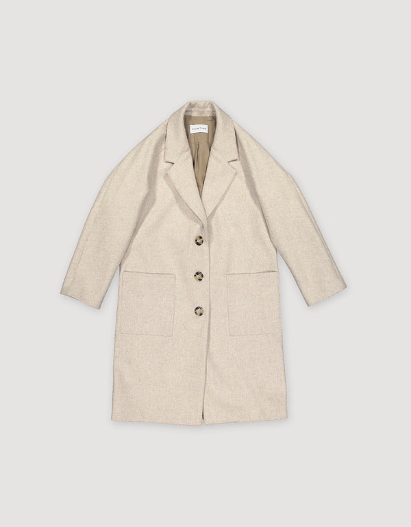 Archetype beige wool overcoat