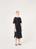 Black Linen summer t-shirt Dress