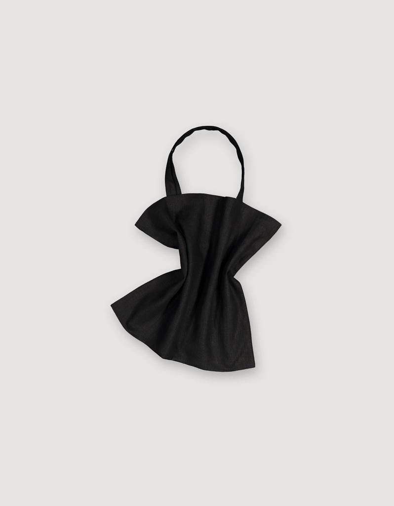 Black Linen Tote Bag