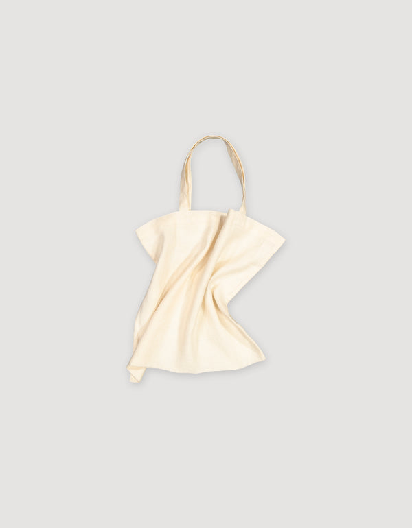 Ecru off white Linen Tote Bag
