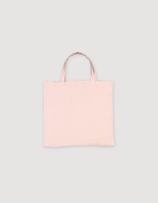 Faded Pink Linen Tote Bag