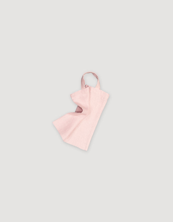 Light Pink Linen Tote small size