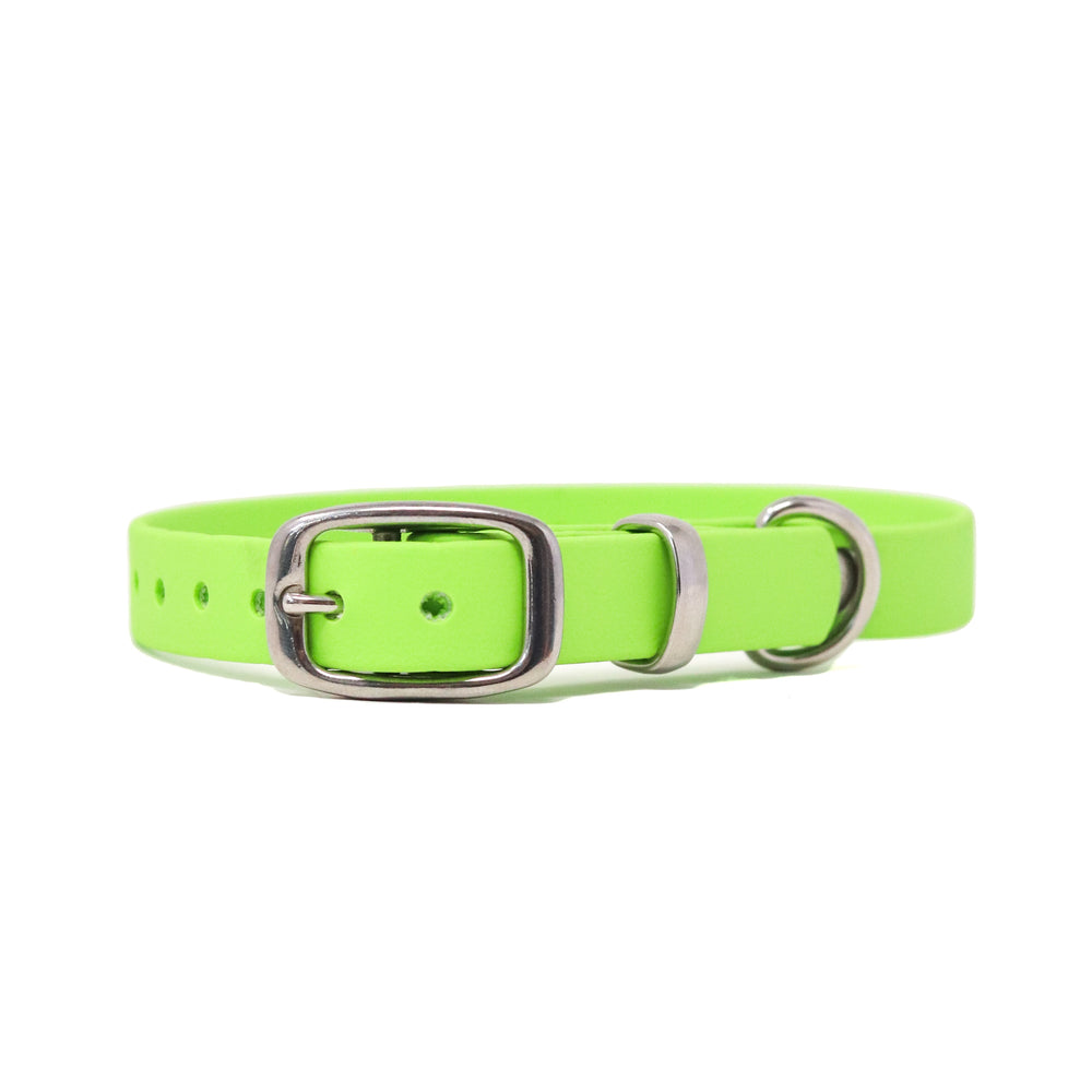 THE MEADOW COLLECTION GENUINE BIOTHANE® DOG COLLAR -1ST EDITION - LIME GREEN