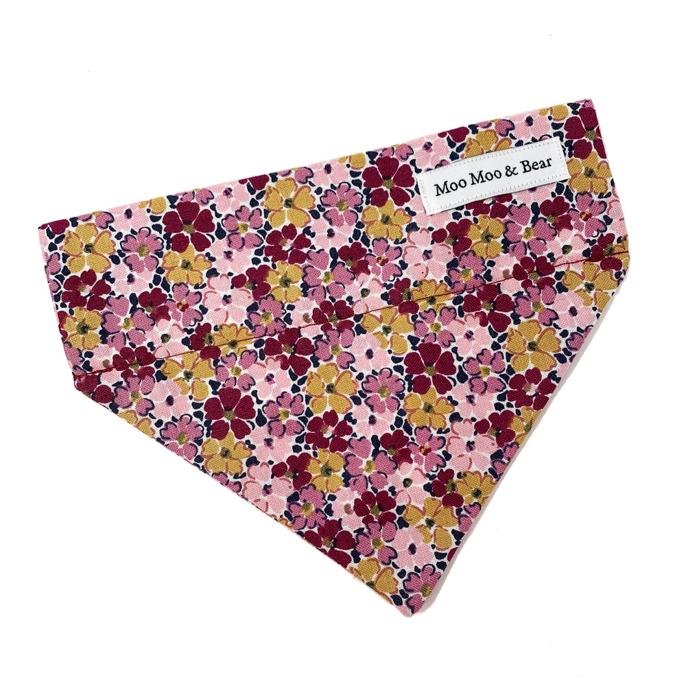 LIBERTY OF LONDON PRIMROSE POSY DOG BANDANA