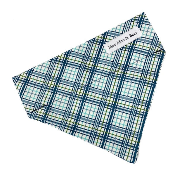 'SHORE PLAID' DOG BOW TIE