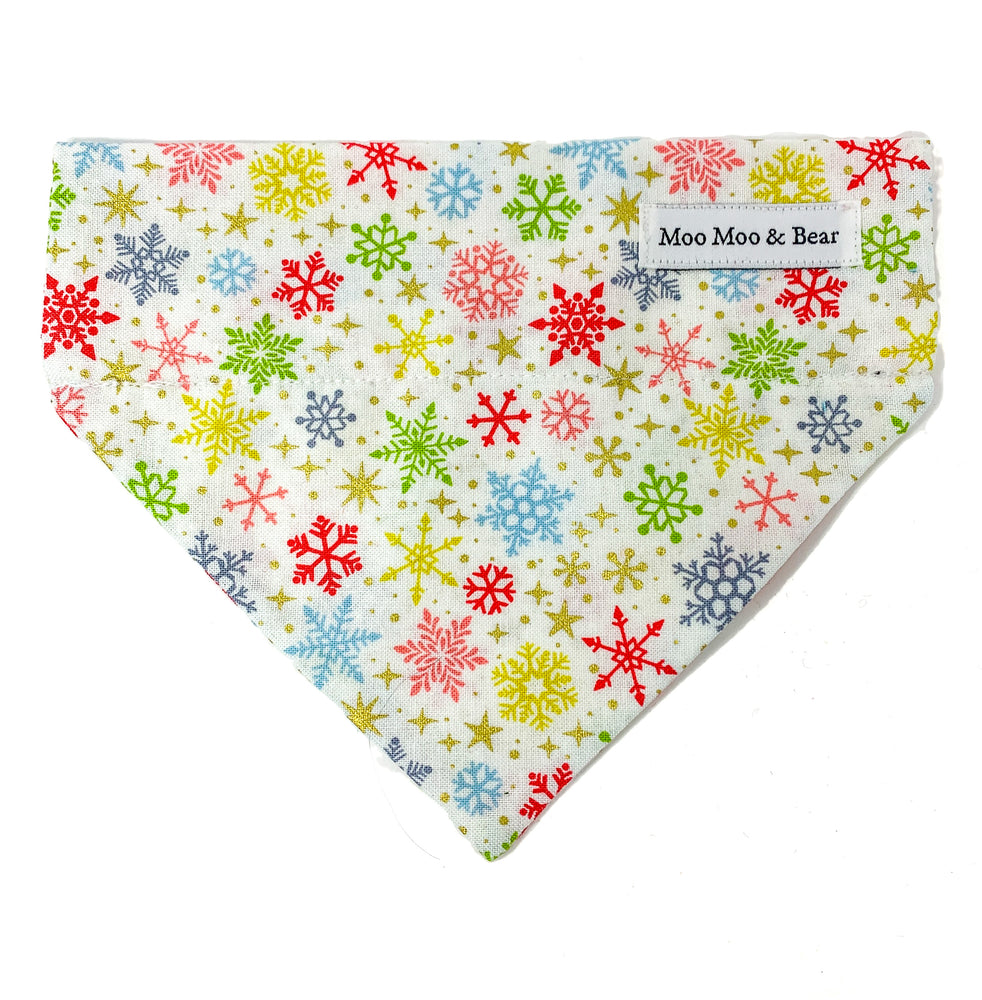 'SNOWFLAKE' WINTER WHITE DOG BANDANA