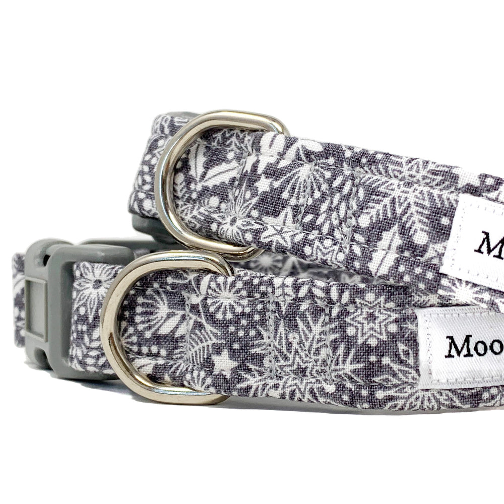 'SCANDI WINTER' GREY DOG COLLAR AND OPTIONAL LEAD