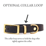 THE WOODLAND COLLECTION GENUINE BIOTHANE® DOG COLLAR -1ST EDITION - EBONY