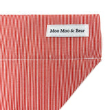 'CANDY CANE' RED STRIPED DOG BANDANA