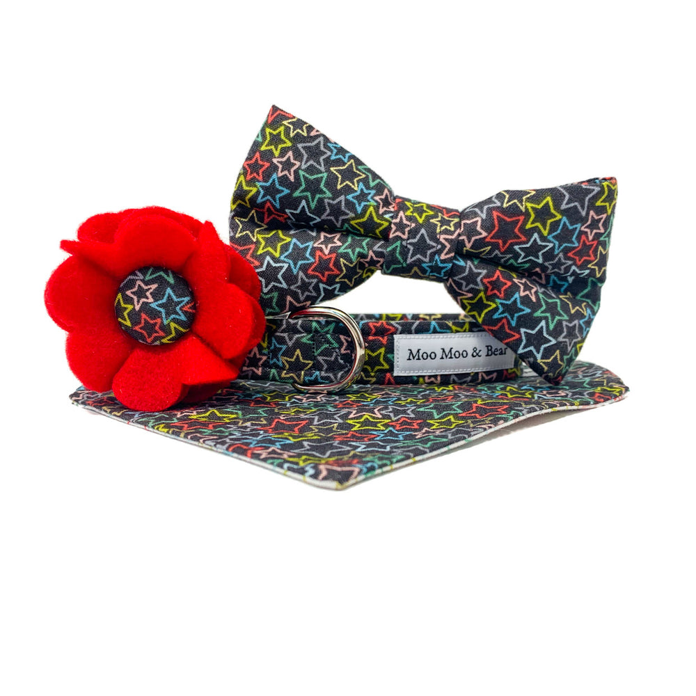 'SUPERSTAR' DOG COLLAR FELT FLOWER