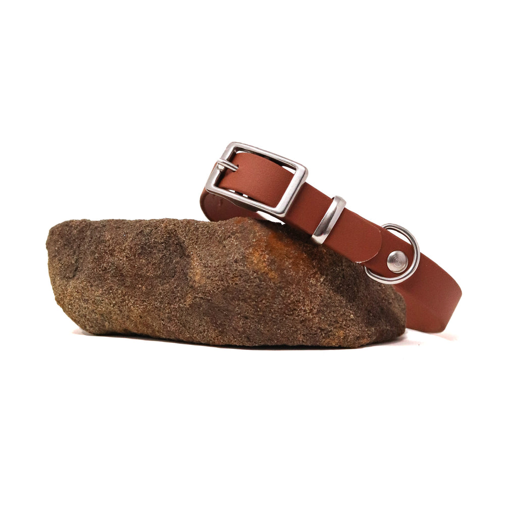 THE MOORLAND COLLECTION GENUINE BIOTHANE® DOG COLLAR -1ST EDITION - WALNUT